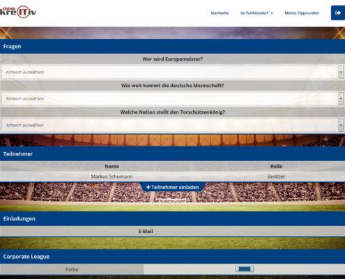 Bonusfragen, Teilnehmerliste, Einladungen, personalisiertes Design