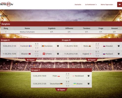 Turnierübersicht Fußball-EM 2016